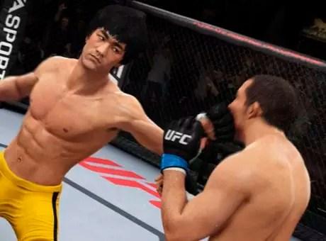 Para desbloquear Bruce Lee, é necessário comprar o jogo na pré-venda ou completar o modo Carreina na dificuldade Pro.  Foto: Divulgação