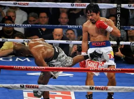 Pacquiao hizo tambalear en algunos momentos al estadounidense. Foto: Getty Images