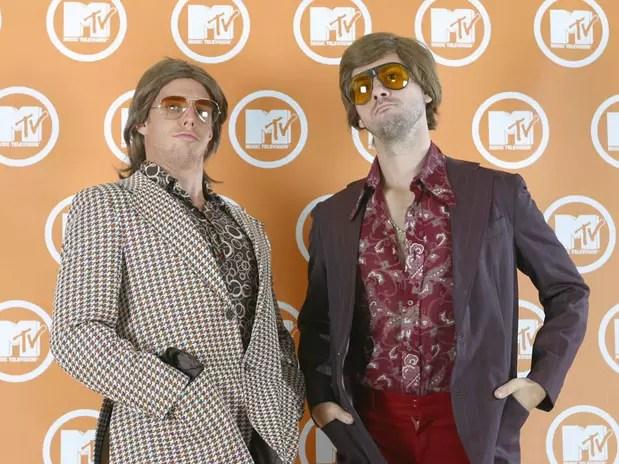 Fausto Fanti e Marco Antônio Alves na pele dos personagens que dão nome à trupe de sucesso da emissora musical Foto: MTV / Divulgação