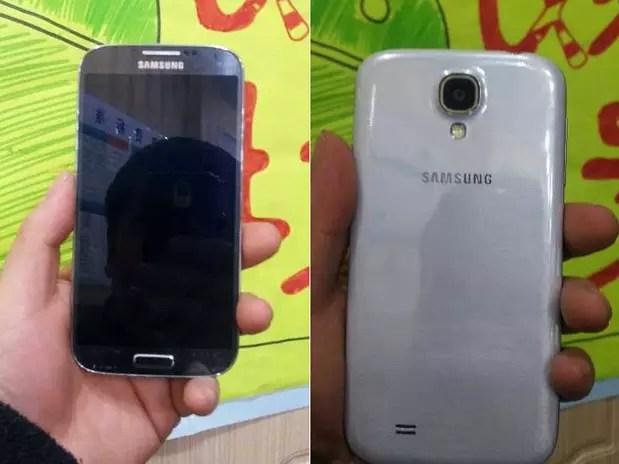Imagens divulgadas em fórum chinês mostram um botão de 'home' físico presente no Samsung Galaxy S4 Foto: 52 Samsung / Reprodução