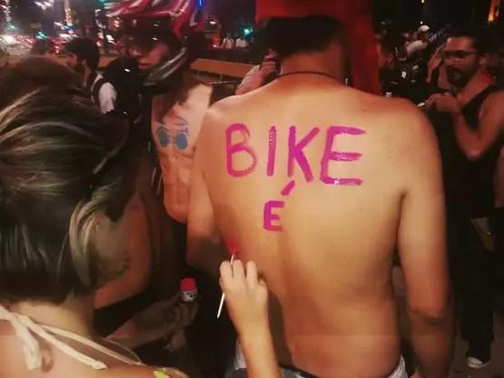Pedalada Pelada São Paulo Foto: QG da Bike/Reprodução/Facebook