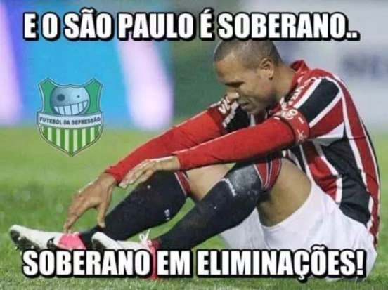 Memes da eliminação do São Paulo da Libertadores 2015 Foto: Facebook / Reprodução