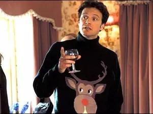 O personagem MarkDarcy usa um típico suéter natalino no filme 'O Diário de Bridget Jones' Foto: Reprodução