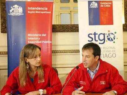 Intendenta (s) de la RM junto al ministro (s) de Obras Públicas. Foto: Reproducción