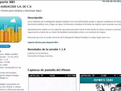 La aplicación ya puede descargarse en iTunes. Foto: Tomada de internet