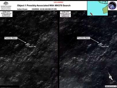 Um dos objetos captados por satélite mede aproximadamente 24 metros Foto: Reuters