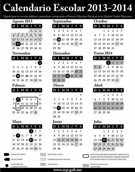 SEP publica calendario escolar 2013-2014 en Diario Oficial