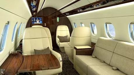 Aeronave exibirá o interior completo pela primeira vez