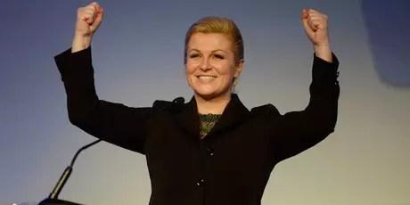Confundieron a la presidenta de Croacia con una modelo.