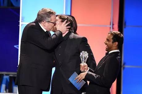 Christian Bale y el beso con el director de su film
