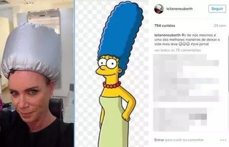 Nas redes sociais, Leilane mostra o seu bom humor (Foto: Reprodução/@leilaneneubarth)