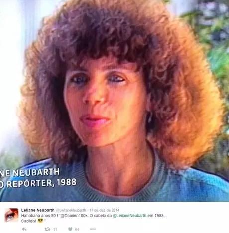 Autoironia ao rememorar os primeiros anos na Globo (Foto: Reprodução/@leilaneneubarth)