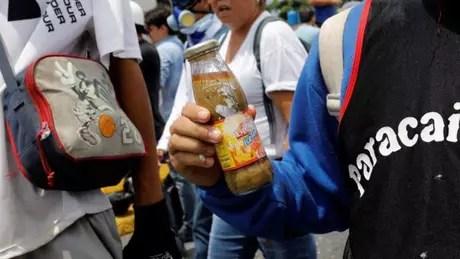 Invenção foi usada em protestos contra o governo de Nicolás Maduro na quarta-feira