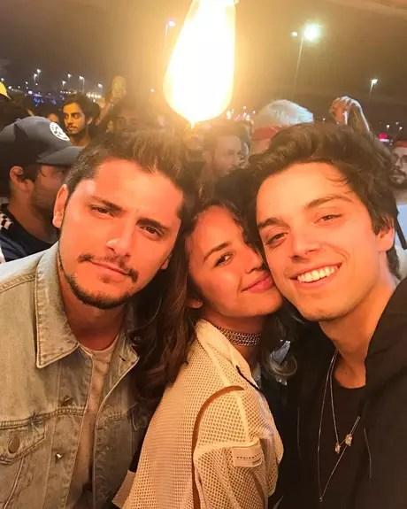 Yanna Lavigne esteve no Rock in Rio e encontrou com o ex-namorado, Bruno Gissoni