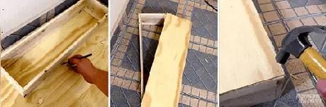18. Você pode adaptar nosso tutorial de como fazer nichos de madeira fazendo um fundo para o seu