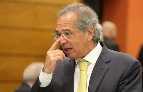 O economista Paulo Guedes durante evento na Firjan, no Rio de Janeiro