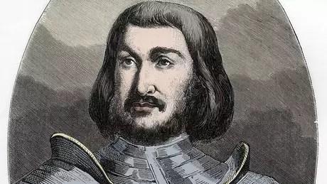 Gilles de Laval (1404-1440), Barão de Rais, como imaginado pelo ilustrador do 'Le Livre Rouge' (O Livro Vermelho), de Dupray de La Maherie