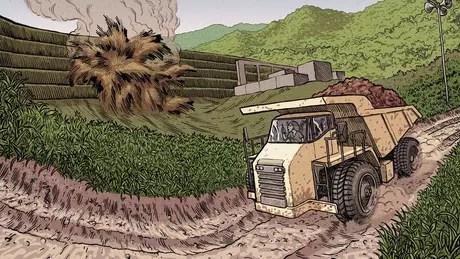 Ana Paula da Silva Mota, de 30 anos, dirigia um caminhão de minério em uma estrada a apenas 550 metros da barragem quando ocorreu o rompimento