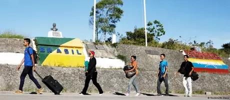 Refugiados venezuelanos entram no Brasil principalmente pela fronteira terrestre