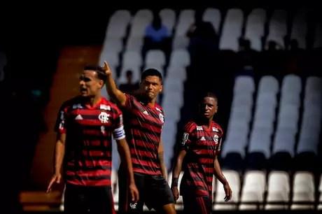 Victor Gabriel marcou dois gols contra o Vasco (Foto: Marcelo Cortes/Flamengo)