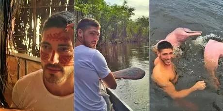 Ângelo compartilhou vários momentos de sua aventura na Selva Amazônica