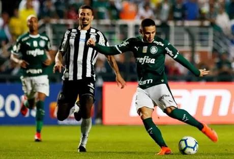 No primeiro turno, Palmeiras goleou o Santos, por 4 a 0, no Pacaembu (Foto : Luiz Moura/WPP)