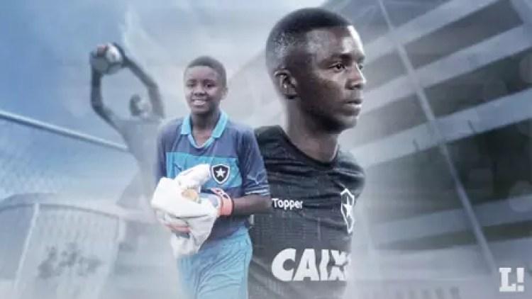 Goleiro Andrew está no Botafogo desde criança (Arte: Marina Cardoso/Lance!)