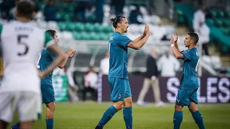 Ibrahimovic será desfalque no Milan em jogo decisivo pela Liga Europa (Divulgação/Milan)