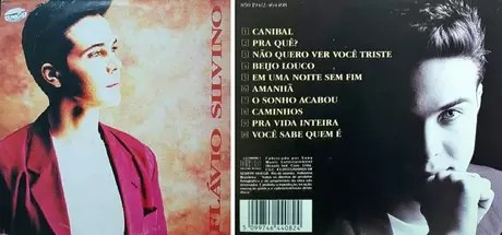 Cover and back cover of the album released by Flávio Silvino as a singer
