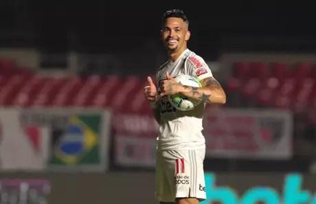 Luciano terminou o campeonato com 18 gols marcados (Foto: Reprodução/ Twitter @SaoPauloFC)