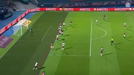 Conmebol reconheceu o erro da arbitragem em gol do Cerro contra o Fluminense (Foto: Reprodução/Conmebol)