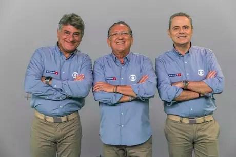 Cleber Machado, Galvão Buenos e Luis Roberto