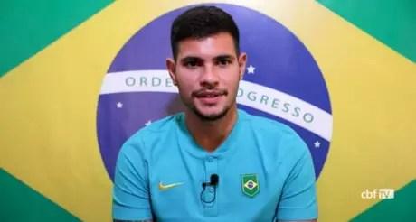 'Todo grupo está confiante de estar aqui', disse Bruno Guimarães (Foto: Reprodução / CBF TV)