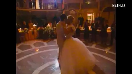 Michael and Corinna's wedding also appears in the trailer