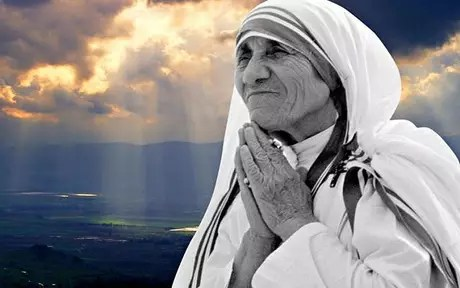 montage with image of Mother Teresa of Calcutta -