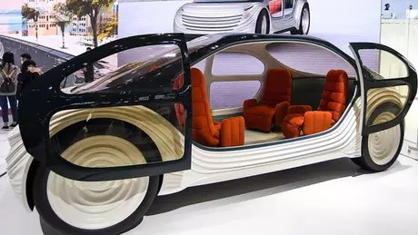 Airo's interior is intended to be more of a room than a car