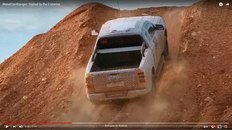 New Ford Ranger in testing.