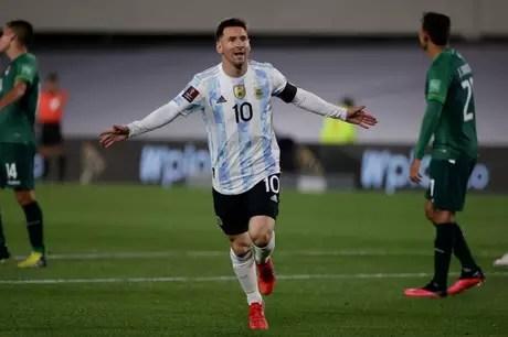 Messi, on an inspired night, did not give his opponent a chance in Buenos Aires (Photo: Press Release/Twitter CONMEBOL)
