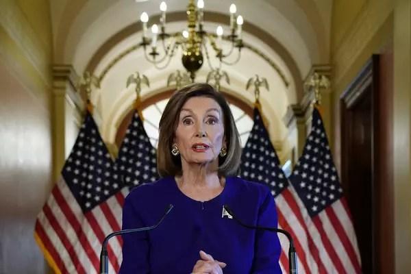 Presidente da Câmara dos EUA, Nancy Pelosi, anuncia inquérito formal de impeachment contraTrump 24/9/2019 REUTERS/Kevin Lamarque