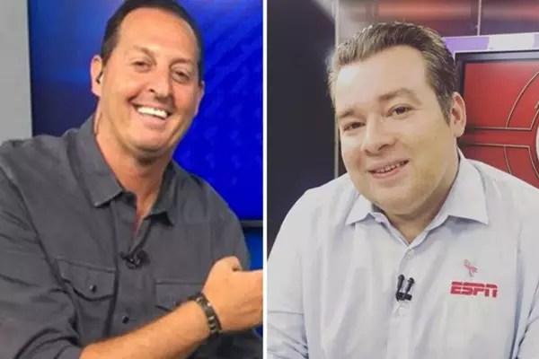 Benjamin Back e Rômulo Mendonça: dois símbolos da Fox Sports e da ESPN Brasil (Reprodução)