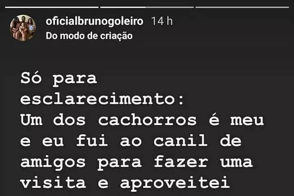 Goleiro Bruno se defende no Instagram