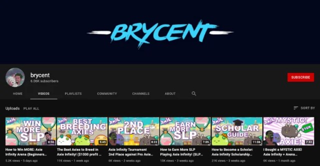 Brycent Axie