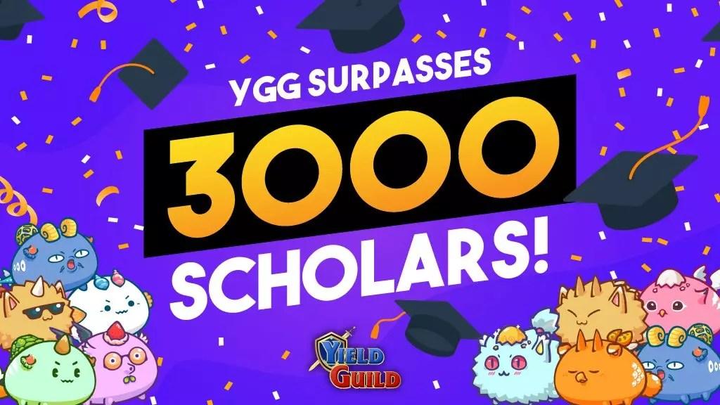 YGG Just Surpassed 3,000 Axie Infinity Scholars! 🚨