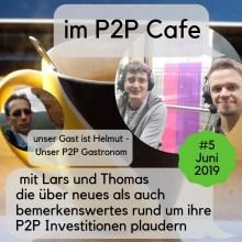 Helmut im P2P Cafe