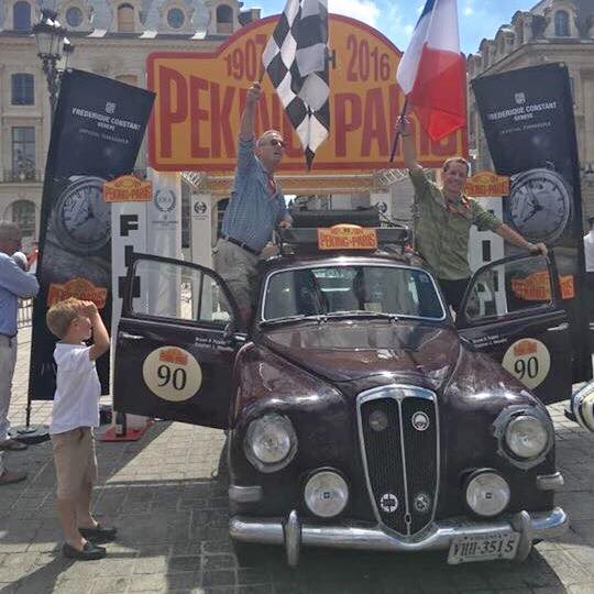 Nutrition for Good - 2016 Peking to Paris Road Rally - Finish Line