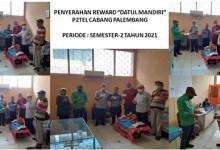 Photo of Penyerahan Reward Datul Mandiri dari KPC Palembang Kpd 15 PMP-3 Kategori