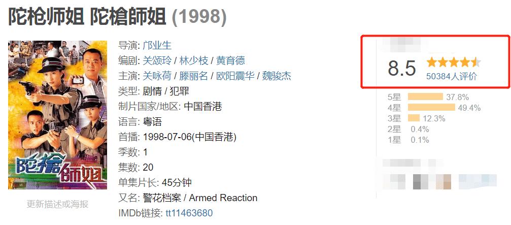 """《陀槍師姐2021》開播,TVB演員老齡化嚴重,""""炒冷飯""""被打一星_港劇"""