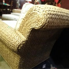 Chair And Ottoman Sets Under 200 Swing Danube 2 Pc Ethan Allen Seagrass Armchair Ottoman, White : Lot 93a
