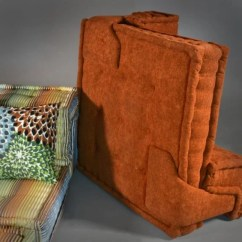 Leather Sofas Auction Sofa Red Color (6) Pc. Roche Bobois, Hans Hopfner Mah Jong : Lot 1