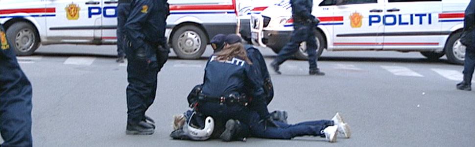 12 norske casuals pågrepet i Oslo sentrum (Foto: NRK)